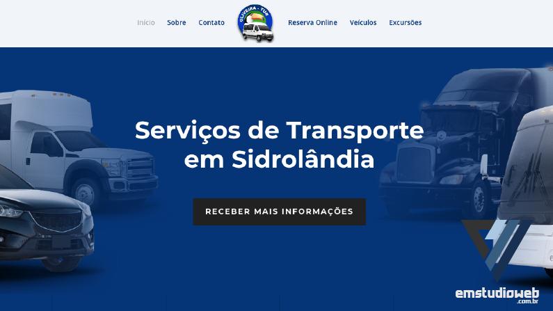 Criação de sites Sidrolândia – Site Oliveira turismo