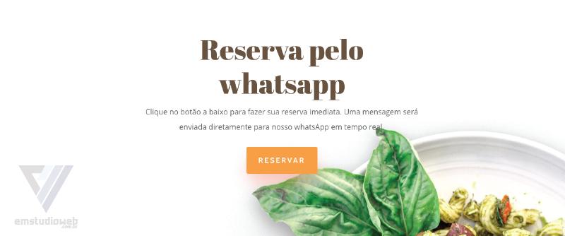 criação de sites para restaurante