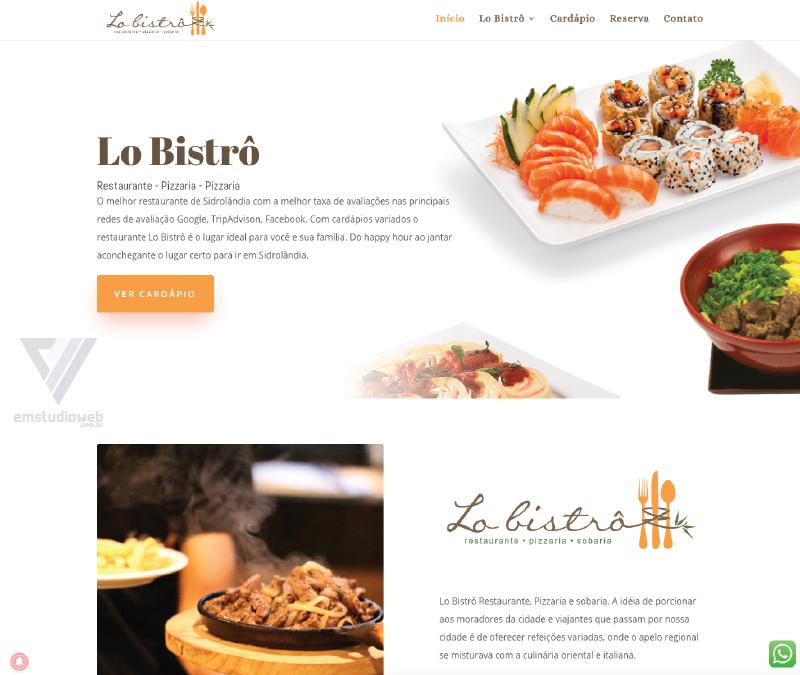 Criação de Sites para Restaurantes e bares